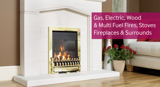 Wide Choice of Gas Fires with Coals, Logs & Pebbles Flame Effects, Flu-Less Gas Fires & Stoves